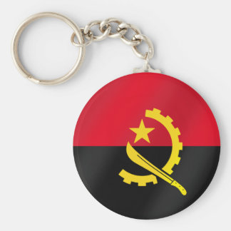 Flag of Angola for Angola soccer fans in 2010 Basic Round Button Keychain