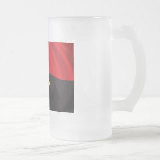 Flag of Angola Frosted Glass Beer Mug