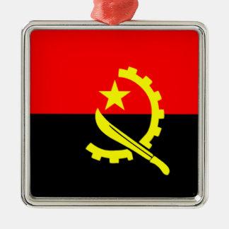 Flag of Angola Metal Ornament