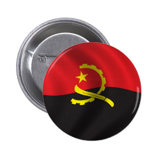 Flag of Angola Pinback Button