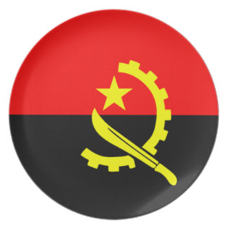 Flag of Angola Plate