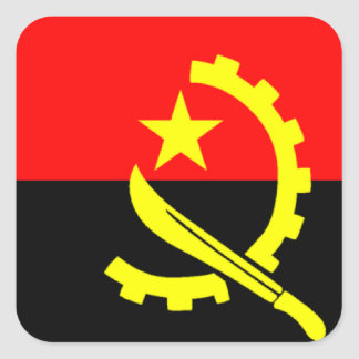 Flag of Angola Square Sticker