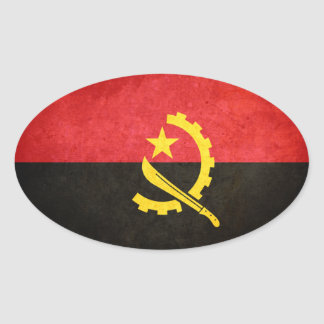 Flag of Angola Oval Sticker