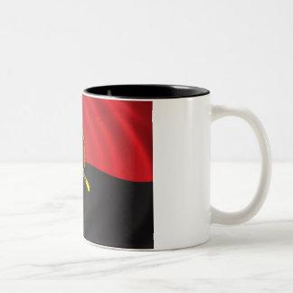 Flag of Angola Two-Tone Coffee Mug