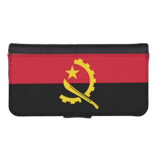 Flag of Angola Wallet Phone Case For iPhone SE/5/5s