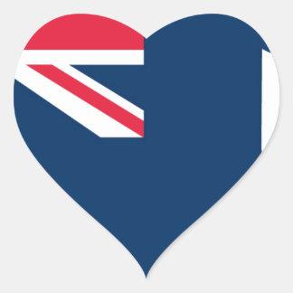 Flag of Anguilla Heart Sticker
