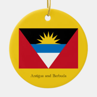 Flag of Antigua and Barbuda Ceramic Ornament