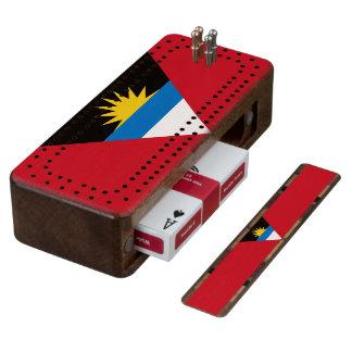 Flag of Antigua and Barbuda Cribbage Board