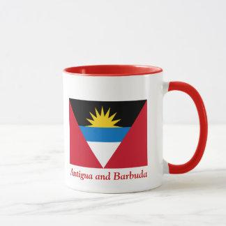 Flag of Antigua and Barbuda Ringer Coffee Mug