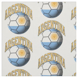 Flag of Argentina Argentines Soccer Ball Pattern Fabric