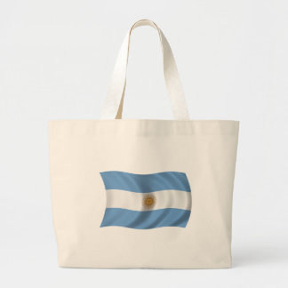 Flag of Argentina Canvas Bags