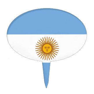 Flag of Argentina - Bandera de Argentina Cake Topper