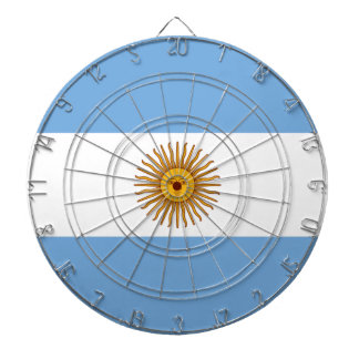 Flag of Argentina - Bandera de Argentina Dartboard With Darts