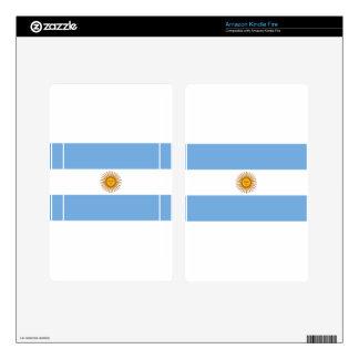 Flag of Argentina - Bandera de Argentina Decals For Kindle Fire