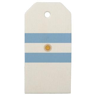 Flag of Argentina - Bandera de Argentina Wooden Gift Tags
