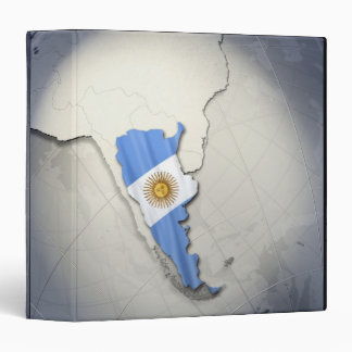 Flag of Argentina Binder