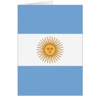 Flag of Argentina Card