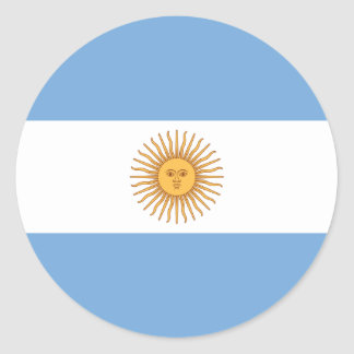 Flag of Argentina Classic Round Sticker
