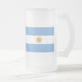 Flag of Argentina Frosted Glass Beer Mug