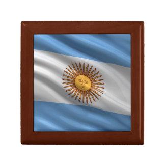 Flag of Argentina Jewelry Box