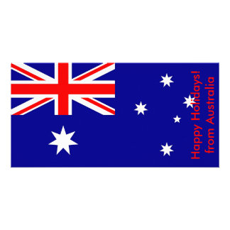 Flag of Argentina, Happy Holidays from Australia Card