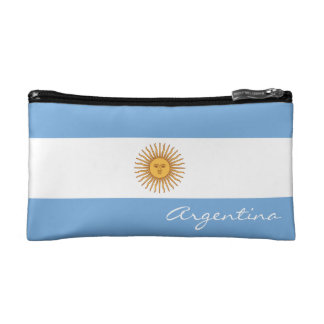 Flag of Argentina Makeup Bag