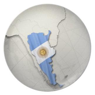 Flag of Argentina Melamine Plate
