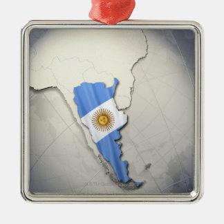 Flag of Argentina Metal Ornament