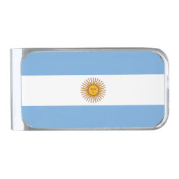 Flag of Argentina Money Clip