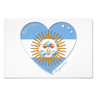 Flag of ARGENTINA national SOCCER May sun Photo Print