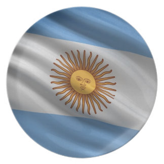 Flag of Argentina Plates