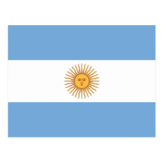 Flag of Argentina Postcard