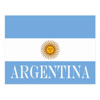 Flag of Argentina Postcard