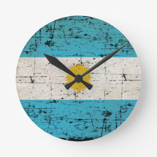 Flag of Argentina Round Clock