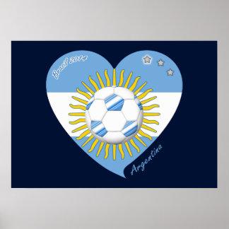 Flag of ARGENTINA SOCCER national team 2014 Poster