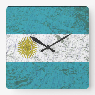 Flag of Argentina Square Wall Clock