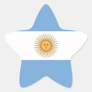 Flag of Argentina Star Sticker