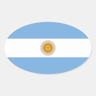 Flag of Argentina Sticker (Oval)