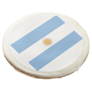Flag of Argentina Sugar Cookie
