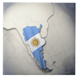 Flag of Argentina Tile