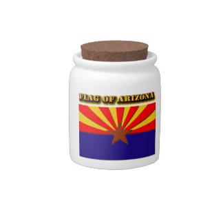 Flag of Arizona Candy Jars
