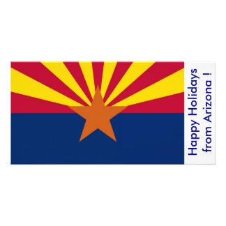 Flag of Arizona, Happy Holidays from U.S.A. Card
