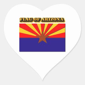 Flag of Arizona Heart Sticker