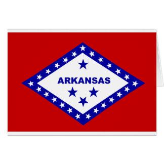 Flag of Arkansas. Card