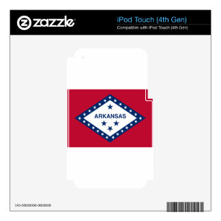 Flag Of Arkansas Decal For iPod Touch 4G