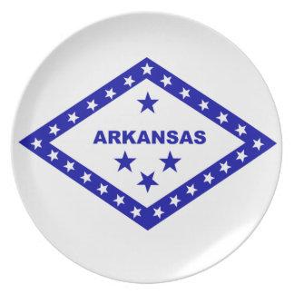 Flag of Arkansas. Dinner Plate