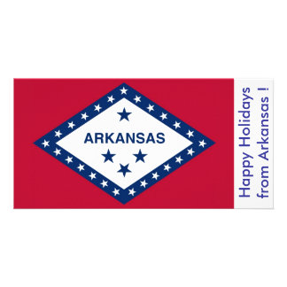 Flag of Arkansas, Happy Holidays from U.S.A. Card