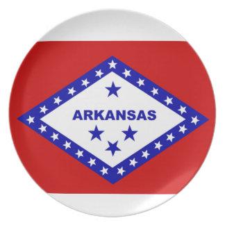 Flag of Arkansas. Melamine Plate