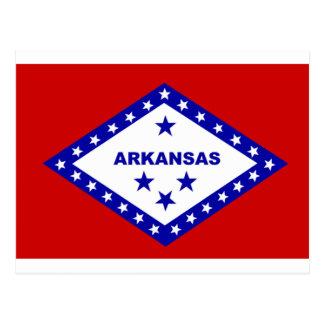 Flag of Arkansas. Postcard
