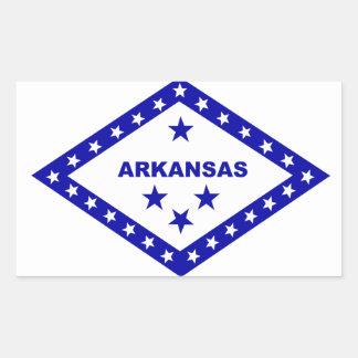 Flag of Arkansas. Rectangular Sticker